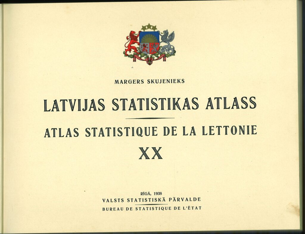Title page of the Statistical Atlas of Latvia